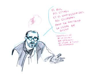 Miguel Robles-Durán confesando sus crímenes contra el pensamiento neoliberal y el capitalismo urbano