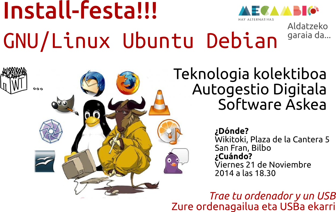 GNU/Linux Install-festa. Fiesta de instalación de GNU/Linux