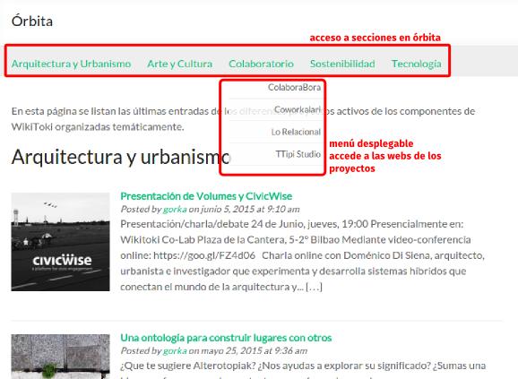 Página Órbita de WikiToki.