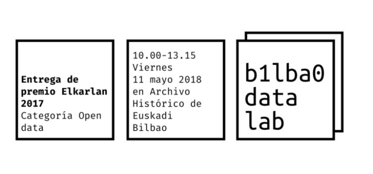 11 de Mayo (viernes) – Bilbao Data Lab recoge el premio Elkarlan 2017 – ¡Acércate a conocer a las personas y a los proyectos premiados!
