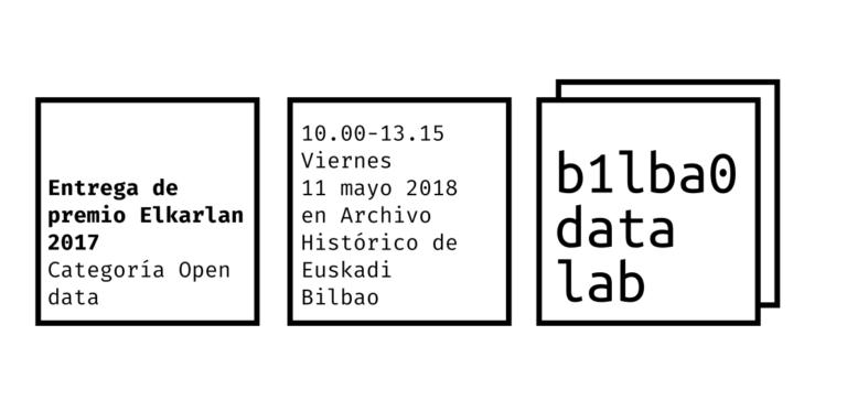Bilbao Data Lab recoge el premio Elkarlan 2017