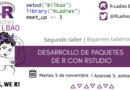 Taller: Desarrollo de paquetes de R con RStudio